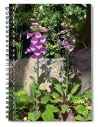 2 Pink Bell Flowers. Foxglove Spiral Notebook