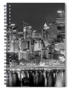 Pittsburgh Pennsylvania Skyline At Night Panorama Spiral Notebook