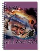 Placing Light In The Firmament Spiral Notebook