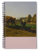 Cattle At Rest On A Hillside In The Alps Spiral Notebook