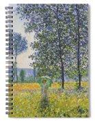 Poplars In The Sunlight Spiral Notebook