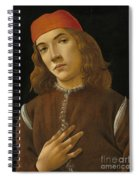 Portrait Of A Youth Spiral Notebook