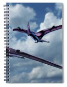 Pterodactyls In Flight Spiral Notebook