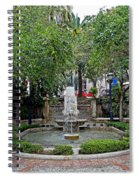 Public Fountain And Gardens In Palma Majorca Spain Spiral Notebook