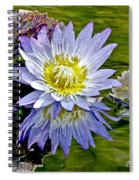 Purple Water Lily Pond Flower Wall Decor Spiral Notebook