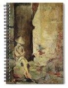 Ragazzo Sulluscio Al Sole Spiral Notebook
