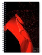 Red Flag On Black Background Spiral Notebook