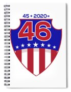 Reelect Trump For President Keep America Great Light Spiral Notebook