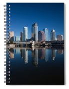 Reflection Of Skyscrapers On Water Spiral Notebook