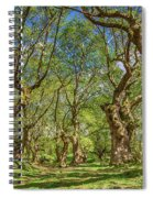 Relaxing Planes Trees Arbor Spiral Notebook