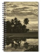 Rice Field Sunrise - Indonesia Spiral Notebook