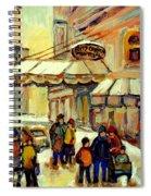 Ritz Carlton Montreal Streetscene Spiral Notebook