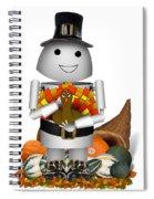 Robo-x9 The Pilgrim Spiral Notebook