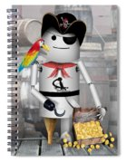 Robo-x9 The Pirate Spiral Notebook