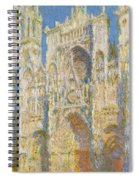 Rouen Cathedral, West Facade, Sunlight Spiral Notebook
