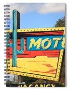 Route 66 - Western Motel Spiral Notebook