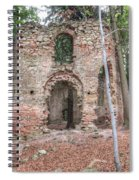 Ruins Of The Baroque Chapel Of Saint Mary Magdalene Spiral Notebook