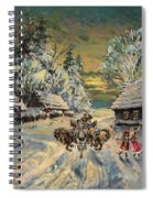 Russian Winter Spiral Notebook