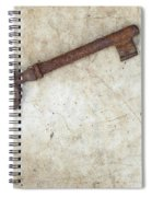 Rusty Key On Old Parchment Spiral Notebook