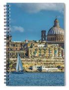 Sail Boat And Cathedral Spiral Notebook