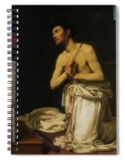 Saint Dominic In Penitence Spiral Notebook