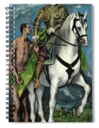 Saint Martin And The Beggar Spiral Notebook