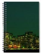 San Francisco Nighttime Skyline Spiral Notebook