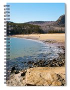 Sand Beach Acadia National Park Spiral Notebook