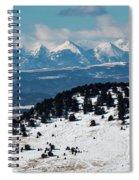 Sangre De Cristo Mountains In Winter Spiral Notebook