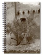 Santa Fe - Adobe Building And Tree Spiral Notebook