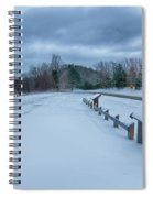 Scenic Views At Brown Mountain Overlook In North Carolina At Sun Spiral Notebook