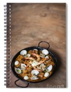 Seafood And Rice Paella Traditional Spanish Food Spiral Notebook
