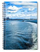 Seattle Washington Cityscape Skyline On Partly Cloudy Day Spiral Notebook