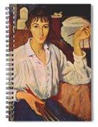 Self-portrait Zinaida Serebryakova Spiral Notebook