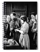 Silent Film Still: Wedding Spiral Notebook