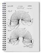Slinky Patent 1947 Spiral Notebook