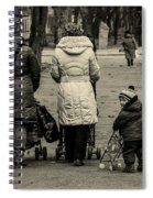 Small Child Looking Backward Spiral Notebook