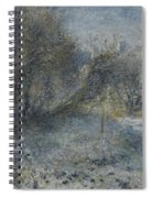 Snow Covered Landscape Spiral Notebook