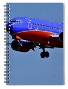 Southwest Airlines Airplane In Flight Spiral Notebook