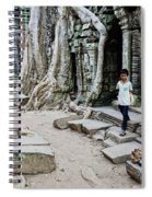 Souvenir Trinket Stall Vendor In Angkor Wat Famous Temple Cambod Spiral Notebook