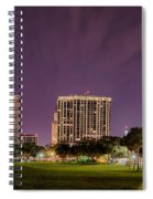 St Petersburg Florida City Skyline And Waterfront At Night Spiral Notebook