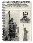 Statue Of Liberty, 1885 Spiral Notebook
