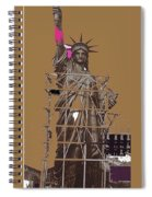 Statue Of Liberty Being Built 1876-1881 Paris Collage Pierre Petit Spiral Notebook