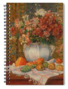 Still Life With Flowers And Prickly Pears Spiral Notebook