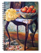 Still Life With Roses Spiral Notebook
