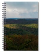 Storm Clouds Over Fall Nature Scenery Spiral Notebook