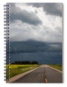 Storm Clouds Prairie Sky Spiral Notebook