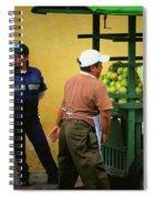 Street Vendor - Antigua Guatemala Spiral Notebook