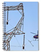 Stringing Power Cable By Helicopter Spiral Notebook