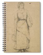 Study Of A Peasant Woman Spiral Notebook
